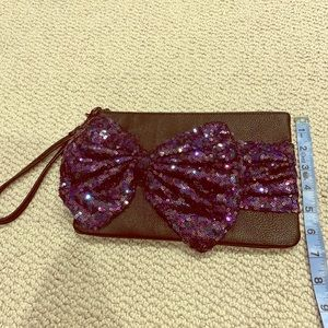 New Betsy Johnson sequin box clutch